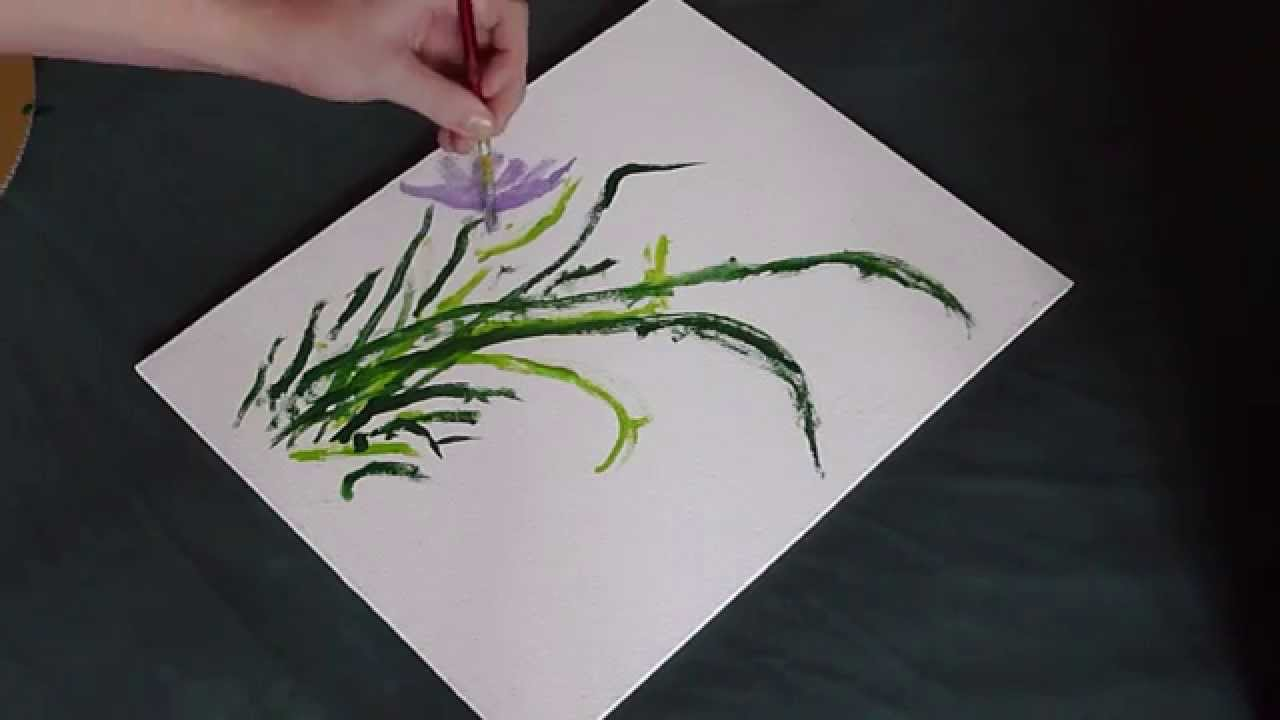 How to paint a pretty purple flower youtube how to paint a pretty purple flower mightylinksfo