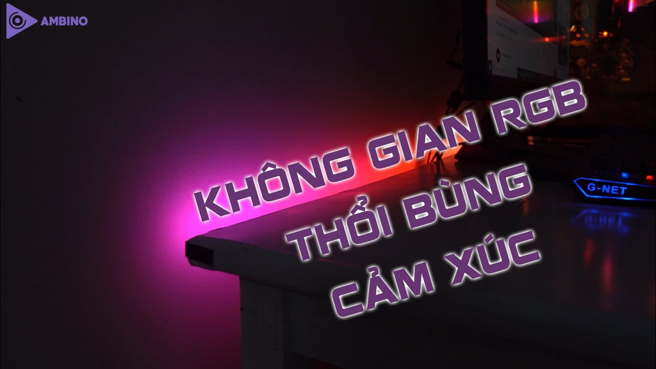 Review Led dán Cạnh Bàn Ambino Black