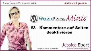 ► WP Minis #3 - Wordpress Kommentare deaktivieren