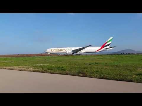 Emirates 1st flight Athnes - New York take off