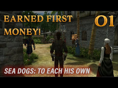 Playing Sea Dogs: To Each His Own - Impossible Difficulty - Ep. 1 - Earned First Money!