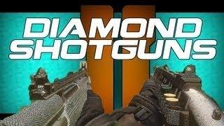 black ops 2 diamond shotguns r870 mcs ksg s12 m1216 review diamond camo gameplay