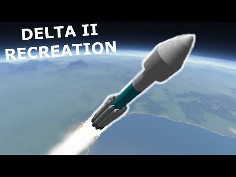 KSP: Everyone's Favorite Teal Rocket, Delta II Recreation! Stock 1.11 |