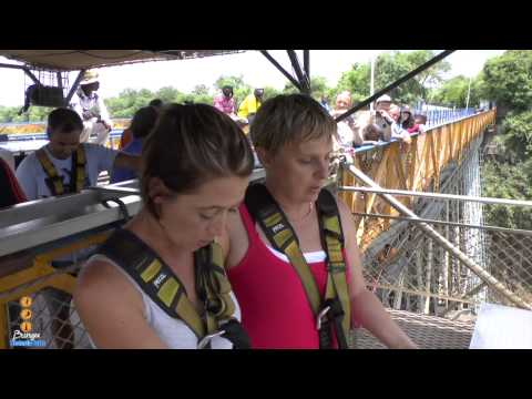 Bridge Swing off Victoria Falls Bridge.....Tracey and Candy!!!!