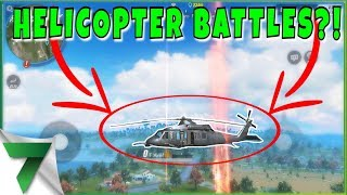 NEW HELICOPTER, FREE GEMS AND HELICOPTER BATTLES?!?! | Rules of Survival