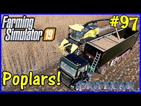 Let's Play Farming Simulator 19 #97: Poplar Harvest!