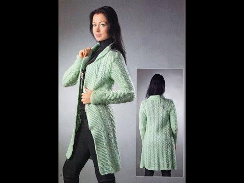 Вязаное Пальто Спицами - фото - 2017 / Knitted coat spokes - Photo / Strickmantel Speichen - Foto
