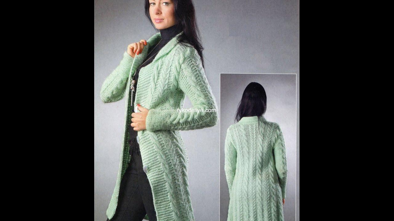 Смотреть Вязаные Пальто - Вязаное Женское Пальто - YouTube