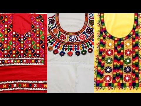 80+ Gorgeous Traditional Mirror  And Thread Work Designs - Sindhi Balochi & Mirror Work Collection
