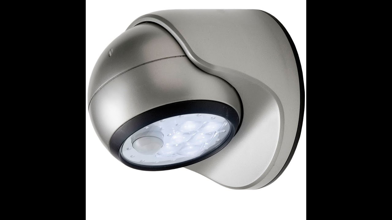 review fulcrum motion sensor led porch light silver youtube - Led Motion Sensor Light