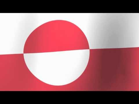Flag of Greenland - Erfalasorput - Aappalaartoq - Grønlands Flag