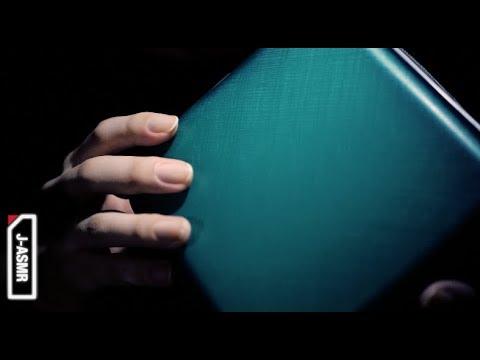 asmr cdケースのトリガー tapping touching page turning zipper