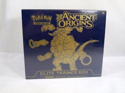 Sleeve and Deck Box Hoopa Elite Trainer Box Ancient Origins Code PTCGO