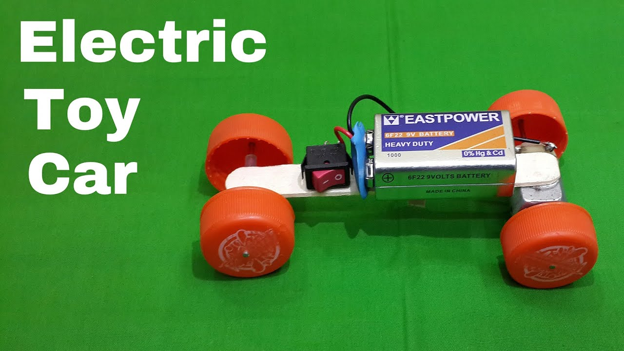 How to make a homemade toy electric car using waste for Waste material project