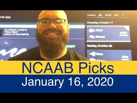 ncaab-picks-(1-16-20)- -college-basketball-predictions- -ncaa-men's-daily-schedule- -vegas-lines