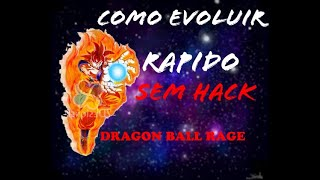 Como evoluir rápido no dragon ball rage Roblox
