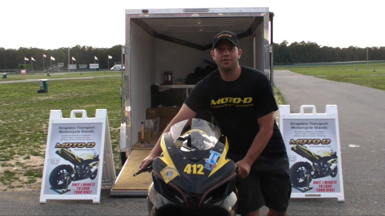 moto d strapless motorcycle transport stands youtube. Black Bedroom Furniture Sets. Home Design Ideas