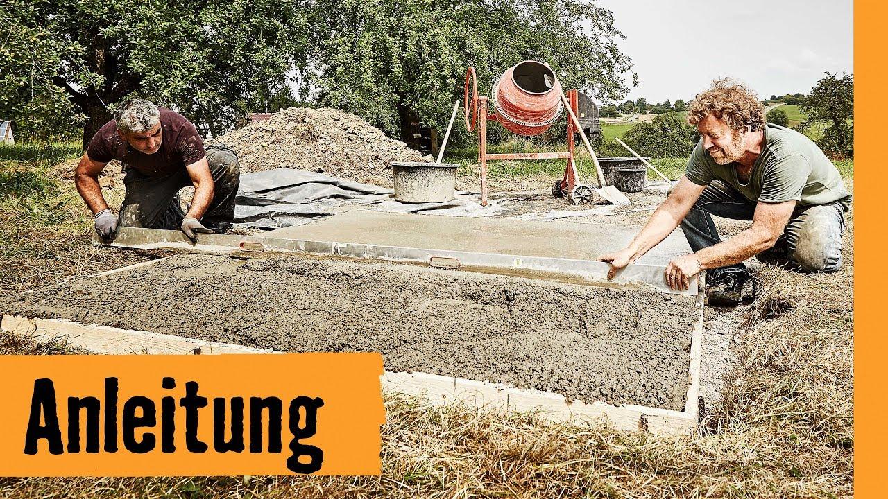 fundamentplatte bauen   hornbach meisterschmiede - youtube