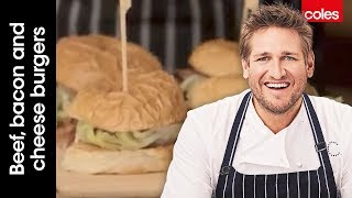 How to make beef, bacon and cheese burgers with Curtis Stone