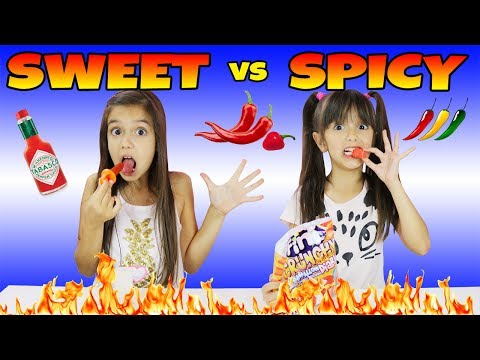 Thumbnail: SWEET vs SPICY CHALLENGE
