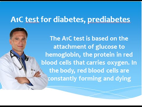 Can the A1C test be used to diagnose type 2 diabetes and prediabetes?