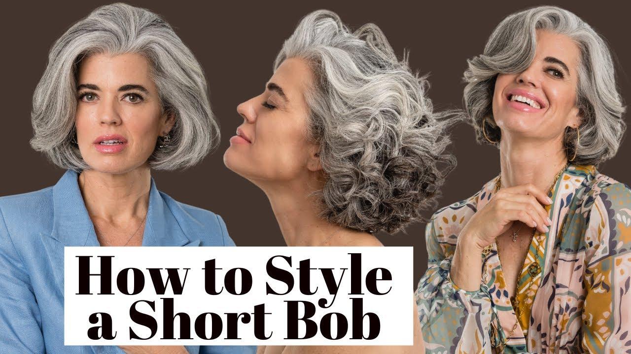 4 WAYS TO STYLE A SHORT BOB HAIR CUT | Nikol Johnson
