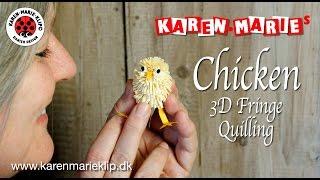 Chicken 3D Fringe Quilling