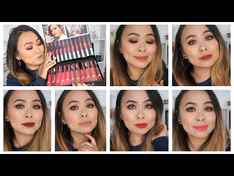 maybelline-sensational-liquid-matte-lipstick-|-all-shades-swatches-&-review