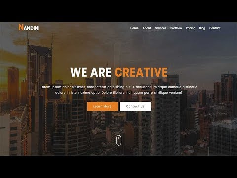 NANDINI - One Page Business HTML Template | One Page HTML Template