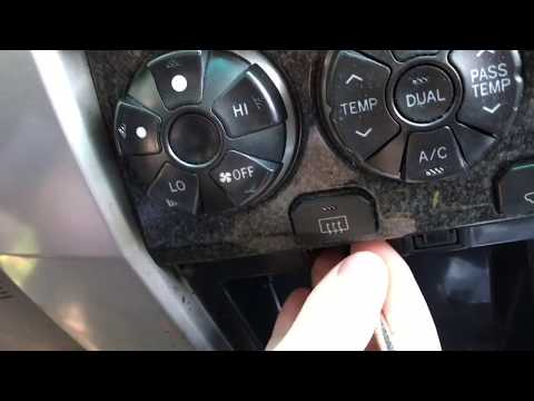 How To Change The Bulbs In The LCD Screen Or Temperature Control On A Toyota 4Runner 2003-2009