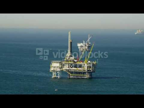 aerial view of offshore platform drilling for oil pacific ocean california sma1asr