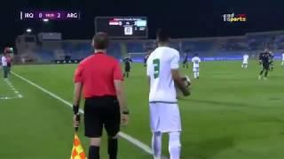 لحظة تلقي لاعب منتخب العراقي بشار رسن خبر وفاة والدته