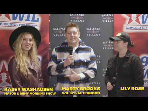 92.3 WIL interview with Lily Rose at Hot Country Nights