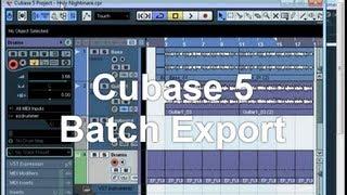 vuclip Cubase 5 Batch Export of Tracks