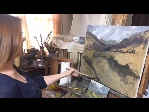 Plein Air Study to Full Size Painting