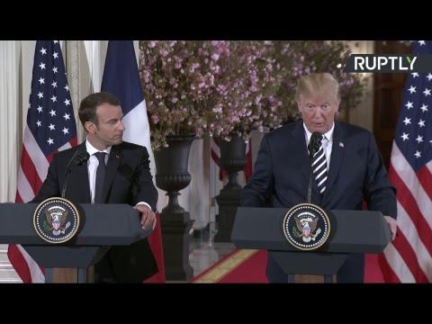 Conférence de presse d'Emmanuel Macron et de Donald Trump à Washington