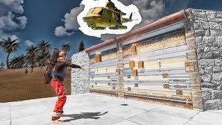RUST - Четыре попытки онлайн рейда / Дом под охраной вертолета
