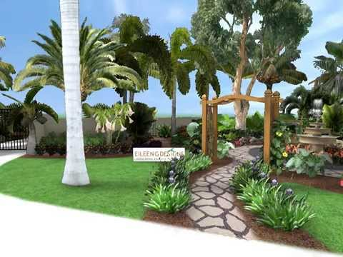 Eileen g designs south florida landscape design youtube for Florida landscape design