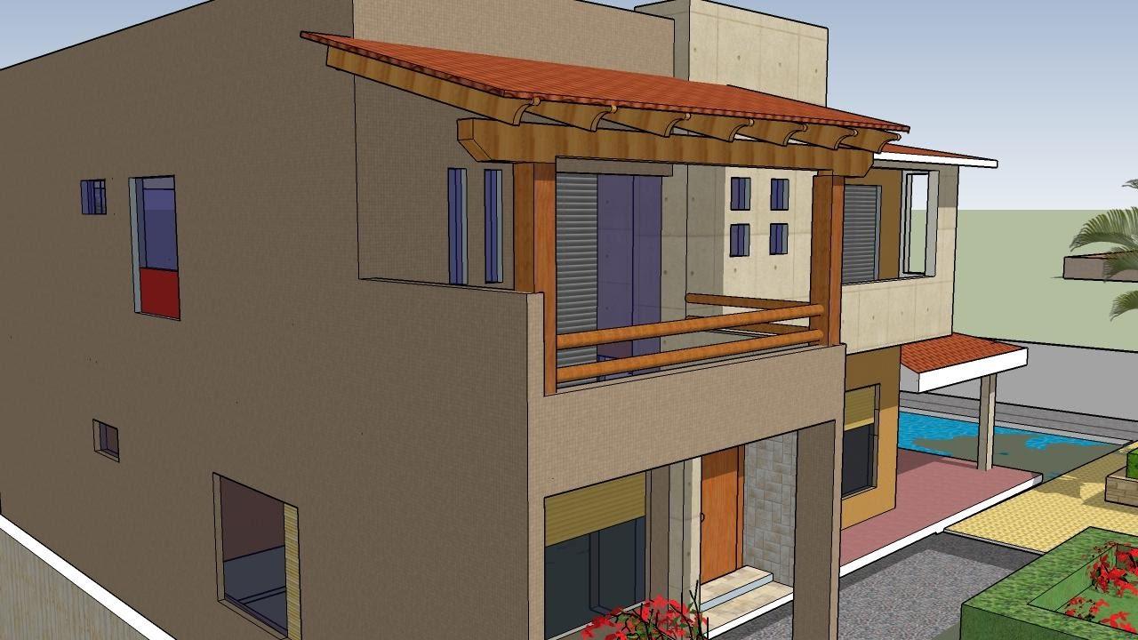 Planos de casa dos pisos con 5 cuartos youtube for Imagenes de casas