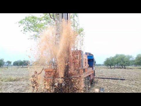 bore well digging dangerous water pressure live video