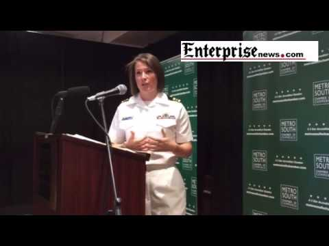 United States Navy Lieutenant Commander Stephanie Latham, Topgun & Easton native.
