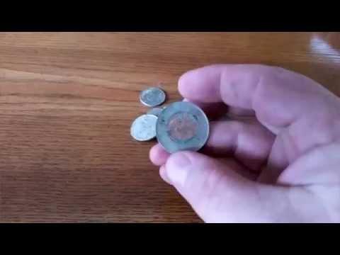 Metal Detecting Canada-Canadian coins vs salt water - an eye opener!