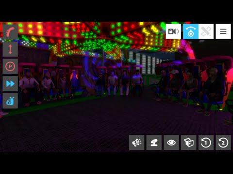 Funfair Ride Simulator 4 FreakShow Night POV (KMG Afterburner)