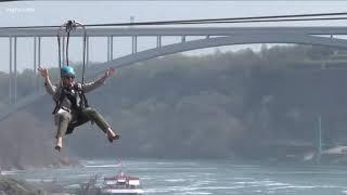 Zip lining at Niagara Falls