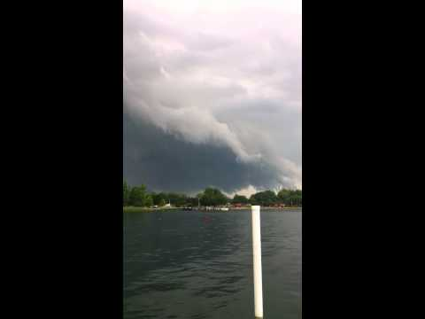 Just Before F2 Tornado Near Sarnia, ON (Watford & Wyoming) July 23, 2011