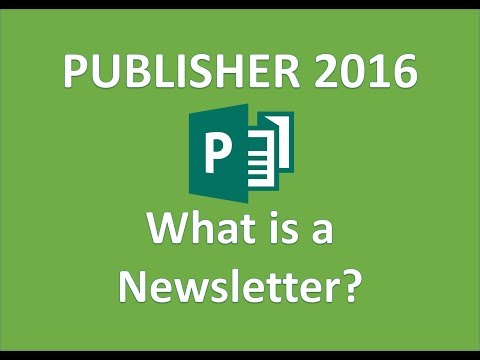 Publisher 2016 - Newsletters - How To Make a Newsletter in Microsoft  Office 365 - Design Tutorial