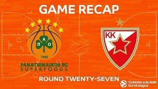 Highlights: Panathinaikos Superfoods Athens - Crvena Zvezda mts Belgrade