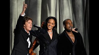Rihanna, Kanye West & Paul McCartney - FourFiveSeconds live at the Grammys 2015