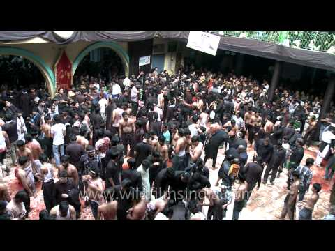 Thousands gather in the name of Lord for self lashing on Muharram