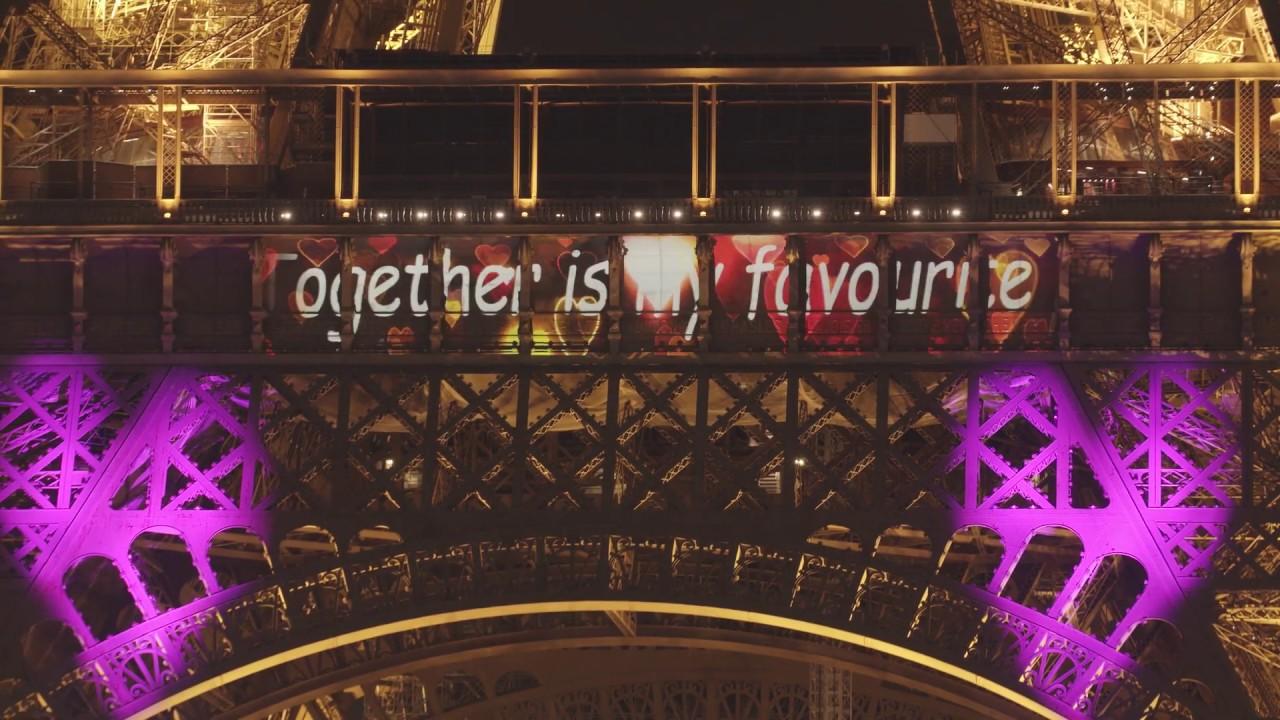 Saint-Valentin 2020 à la tour Eiffel